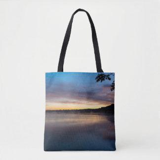 Lake Springfield Autumn Sunrise Tote Bag
