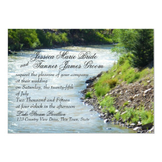 Lake Stream Nature Photography Wedding Card