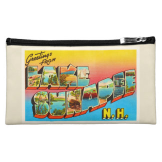 Lake Sunapee New Hampshire NH Old Travel Souvenir Cosmetic Bag