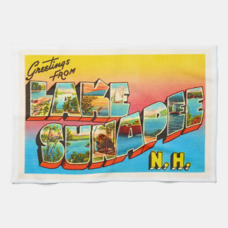 Lake Sunapee New Hampshire NH Old Travel Souvenir Hand Towel