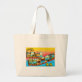 Lake Sunapee New Hampshire NH Old Travel Souvenir Large Tote Bag