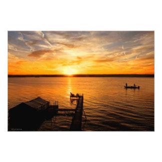 Lake Sunrise Photo Art