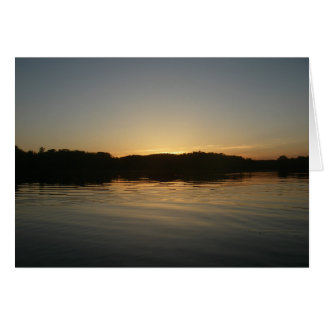 Lake Sunset Blank Card