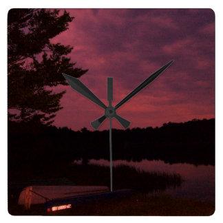 Lake Sunset Clock