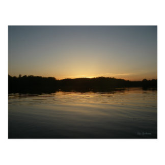 Lake Sunset Postcard