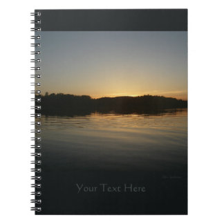 Lake Sunset Spiral Notebook 2