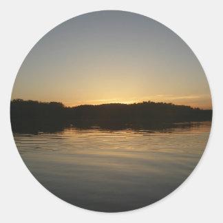 Lake Sunset Stickers