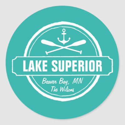Thunder bay flag classic round sticker zazzle ca