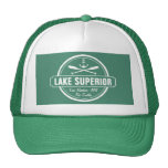 Lake Superior, custom town, name, anchor, paddles Trucker Hat
