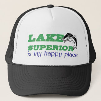 Lake Superior is my happy place Trucker Hat