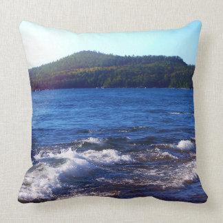 Lake Superior Landscape Throw Pillow