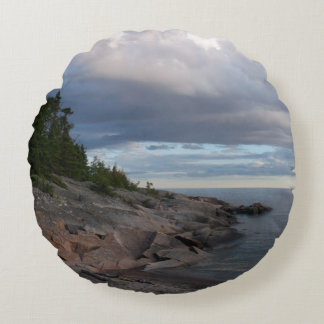 Lake Superior Round Pillow