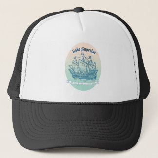 Lake Superior Sailing Ship Trucker Hat