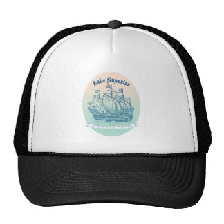 Lake Superior Sailing Ship Trucker Hat