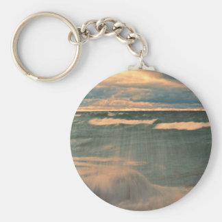 Lake Superior - Stormy Sunset Keychain