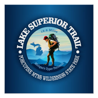 Lake Superior Trail (Hiker C) Poster