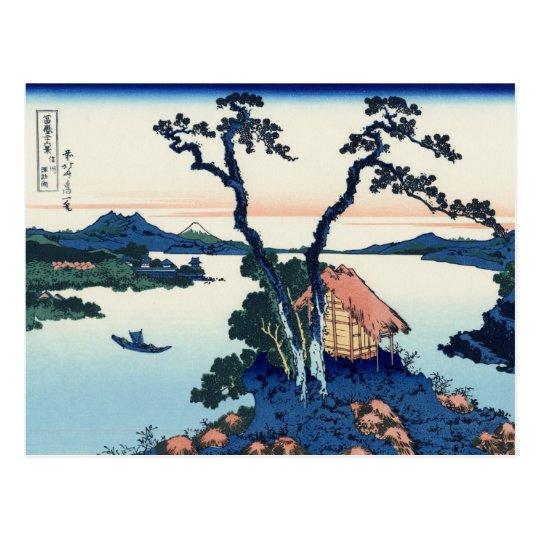 Lake Suwa in Shinano Province (by Hokusai) Postcard