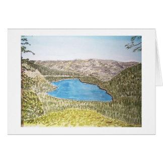 lake tahoe area. donner lake card