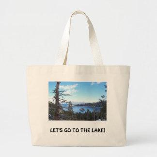 Lake Tahoe Beach Bag, Large Tote Bag