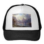 Lake Tahoe by Albert Bierstadt, Vintage Landscape Hat