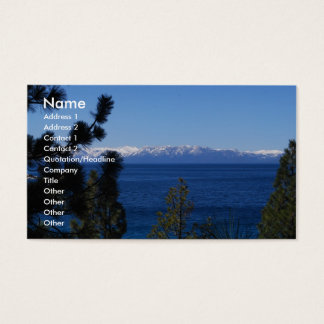 Lake Tahoe California Business Cards