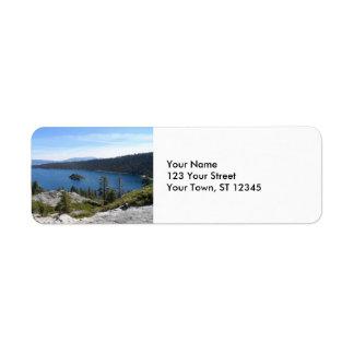 Lake Tahoe- Emerald Bay Return Address Label