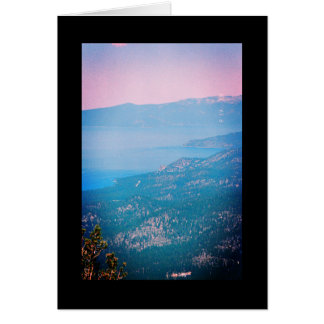 Lake Tahoe Mist- Song of Sol. 4:12 Greeting Card