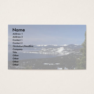 Lake Tahoe, Nevada Business Card