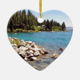 Lake Tahoe Nevada Ceramic Ornament