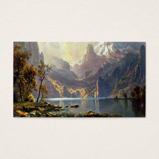 Lake Tahoe painting Nevada art by Albert Bierstadt Business Card