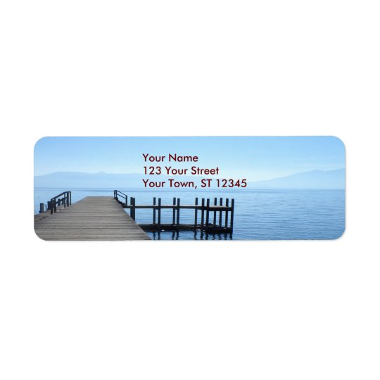 Lake Tahoe Pier Return Address Label