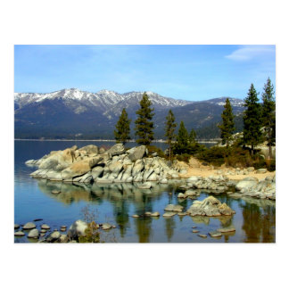 Lake Tahoe Reflection and Range Postcard