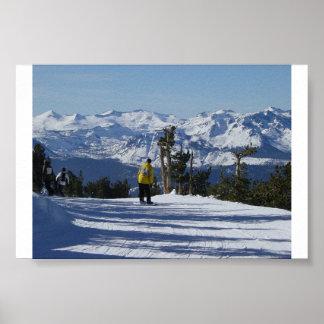 Lake Tahoe Snowboarding Poster
