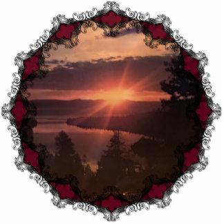 Lake Tahoe Sunrise Ornament Photo Sculpture Ornament