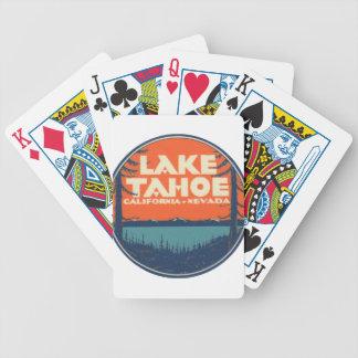 Lake Tahoe Vintage Travel Decal Design Poker Deck