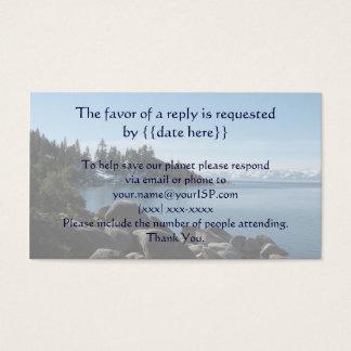 Lake Tahoe Wedding Response Card