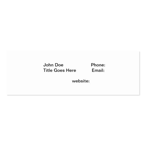Lake Tahoe Winter Business Cards