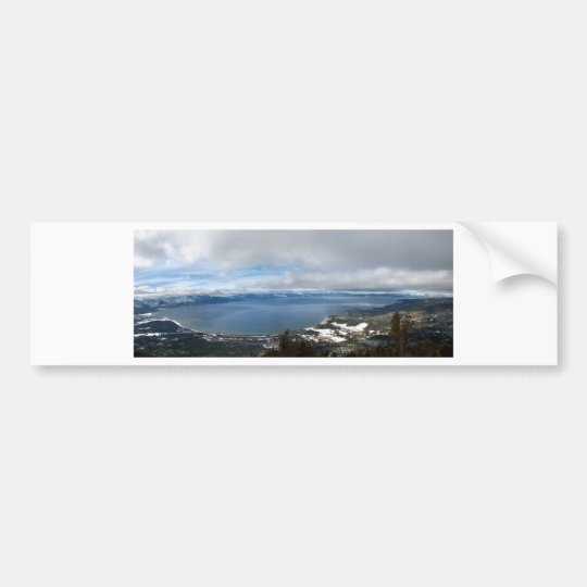 Lake Tahoe Winter Panorama Bumper Sticker