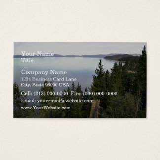 Lake Tahoe with pine trees Business Card