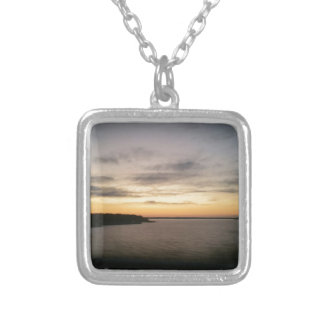 Lake Texoma Sunset Silver Plated Necklace