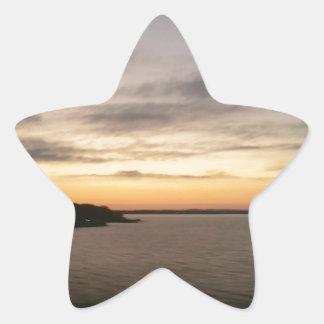 Lake Texoma Sunset Star Sticker