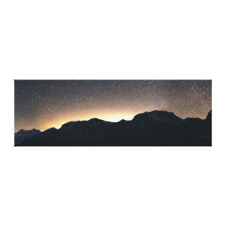 Lake Thun, Switzerland & Starry Sky Canvas Print
