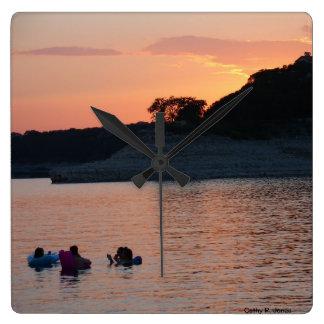 Lake Travis Sunset Clock