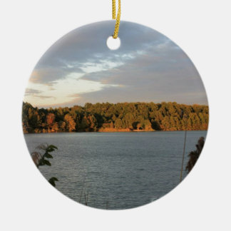 Lake View Ceramic Ornament