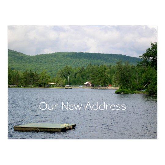Lake View New Address Postcard