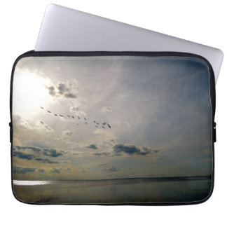 lake view pelicans laptop computer sleeves