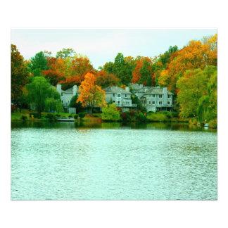 Lake view photo print
