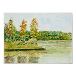 Lake View Scenery Poster