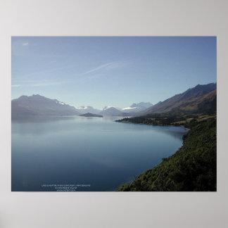 Lake Wakatipu near Glenorchy, New Zealand Poster