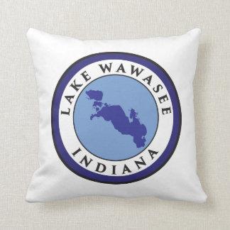 Lake Wawasee, Indiana Throw Pillow
